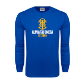 Royal Long Sleeve T Shirt-Est Year Stacked w/ Crest