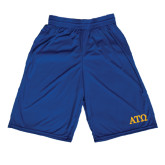 Russell Performance Royal 9 Inch Short w/Pockets-ATO Greek Letters