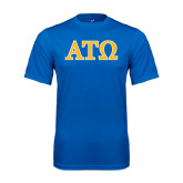 Performance Royal Tee-ATO 2 Color Greek Letters