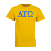 Gold T Shirt-ATO Greek Letters