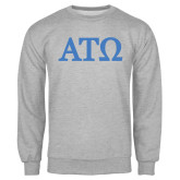 Grey Fleece Crew-ATO Greek Letters