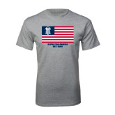 Grey T Shirt-American Flag