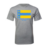 Grey T Shirt-Distressed Flag