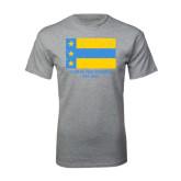 Grey T Shirt-Distressed Flag