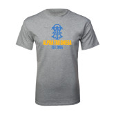 Grey T Shirt-Est Year Stacked w/ Crest