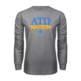 Grey Long Sleeve T Shirt-ATO Nation