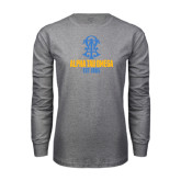 Grey Long Sleeve T Shirt-Est Year Stacked w/ Crest