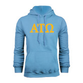 Light Blue Fleece Hoodie-ATO Greek Letters