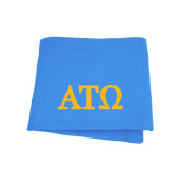 Light Blue Sweatshirt Blanket-ATO Greek Letters