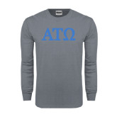 Charcoal Long Sleeve T Shirt-ATO Greek Letters