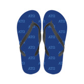 Full Color Flip Flops-ATO Greek Letters