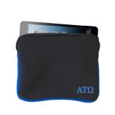 Neoprene Black w/Royal Trim Zippered Tablet Sleeve-ATO Greek Letters