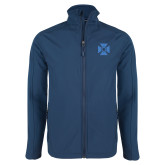 Navy Softshell Jacket-Cross