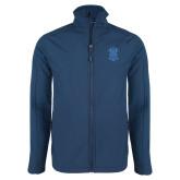 Navy Softshell Jacket-ATO Interlocking