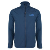 Navy Softshell Jacket-ATO Greek Letters