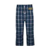 Navy/White Flannel Pajama Pant-ATO Greek Letters