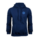 Navy Fleece Hoodie-Cross