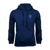 Navy Fleece Hoodie-ATO Interlocking