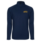 Sport Wick Stretch Navy 1/2 Zip Pullover-ATO Greek Letters
