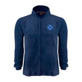 Fleece Full Zip Navy Jacket-Cross