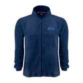 Fleece Full Zip Navy Jacket-ATO Greek Letters