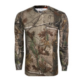 Realtree Camo Long Sleeve T Shirt w/Pocket-ATO Greek Letters