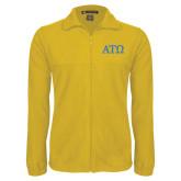 Fleece Full Zip Gold Jacket-ATO Greek Letters