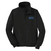 Black Charger Jacket-ATO Greek Letters