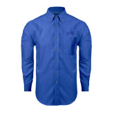 Mens Royal Oxford Long Sleeve Shirt-ATO Greek Letters