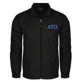 Full Zip Black Wind Jacket-ATO Greek Letters