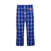 Royal/White Flannel Pajama Pant-ATO Greek Letters