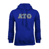 Royal Fleece Hoodie-Greek Letters Tackle Twill