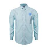 Mens Light Blue Oxford Long Sleeve Shirt-Cross