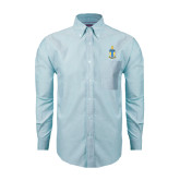 Mens Light Blue Oxford Long Sleeve Shirt-Coat of Arms