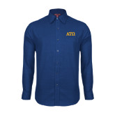 Red House Royal Diamond Dobby Long Sleeve Shirt-ATO Greek Letters