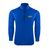 Sport Wick Stretch Royal 1/2 Zip Pullover-ATO Greek Letters
