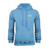 Light Blue Fleece Hoodie-ATO 2 Color Greek Letters
