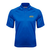 Royal Textured Saddle Shoulder Polo-ATO Greek Letters