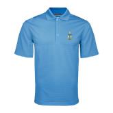 Light Blue Mini Stripe Polo-Coat of Arms
