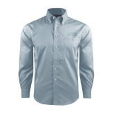 Red House Lt Blue Long Sleeve Shirt-ATO Greek Letters