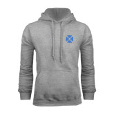 Grey Fleece Hoodie-Cross