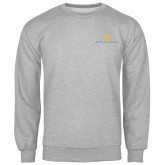 Grey Fleece Crew-Official Logo