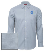 Red House Light Blue Diamond Dobby Long Sleeve Shirt-Cross