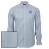 Red House Light Blue Diamond Dobby Long Sleeve Shirt-Cross