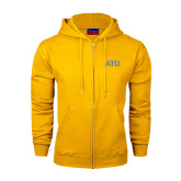 Champion Gold Fleece Full Zip Hood-ATO Greek Letters