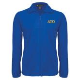 Fleece Full Zip Royal Jacket-ATO Greek Letters