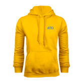 Gold Fleece Hoodie-ATO Greek Letters