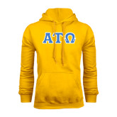 Gold Fleece Hoodie-Greek Letters Tackle Twill