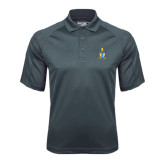 Charcoal Dri Mesh Pro Polo-Coat of Arms