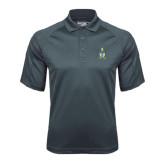 Charcoal Dri Mesh Pro Polo-Coat of Arms